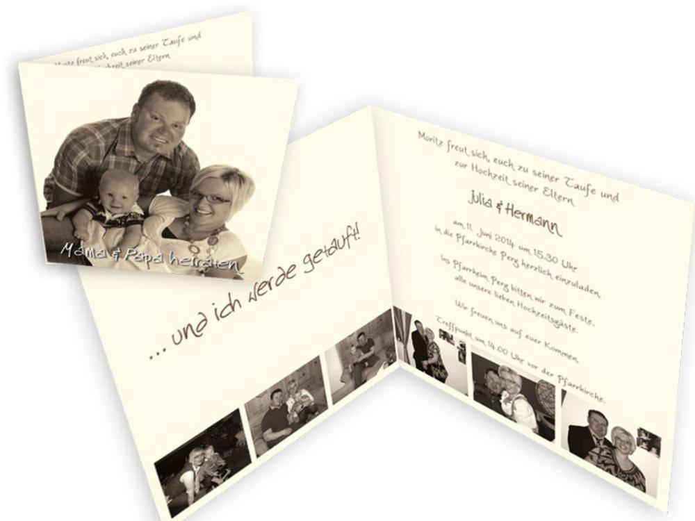 Spezielle Einladungskarten Fur Eine Hochzeit Mit Taufe Einladungskarten Hochzeit Und Taufe Kombiniert Text Di 2020 Dengan Gambar