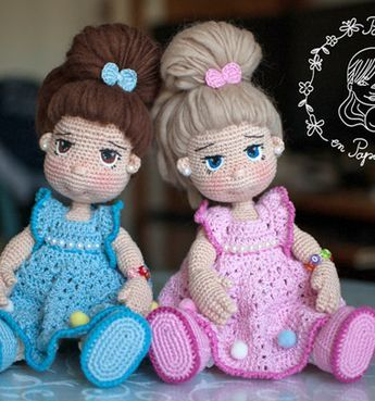 Cute amigurumi doll - Greta ( free crochet patterns ) | Mindy