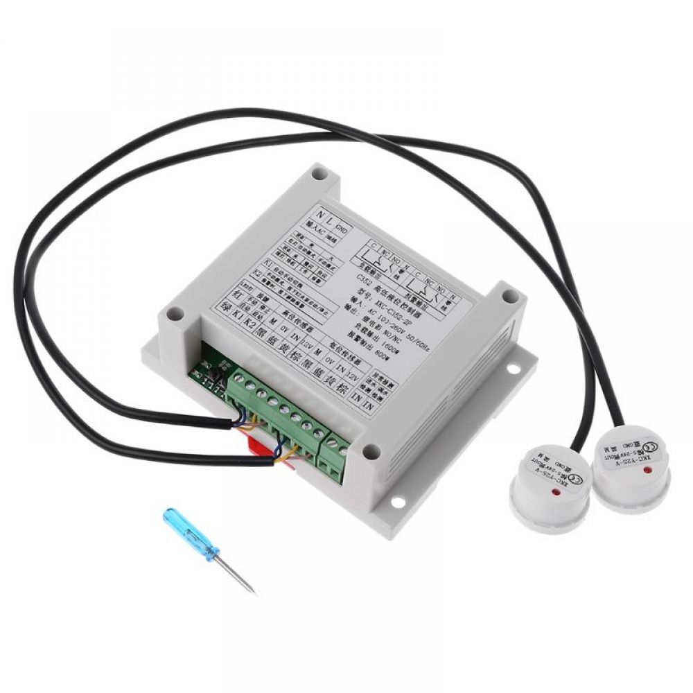High And Low Liquid Level Intelligent Controller With 2 Non Contact Sensor Module Automatic Contr In 2020 Sensor Level Sensor Detection