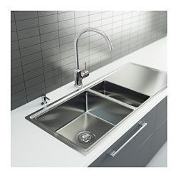 BREDSKÄR 1 1/2 Bowl Insert Sink With Drainer