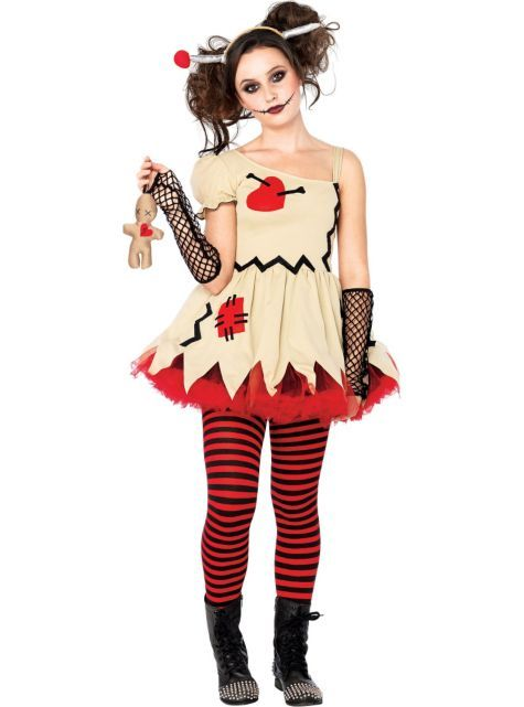 Teen Girls Voodoo Doll Costume - Party City | costumes | Pinterest ...
