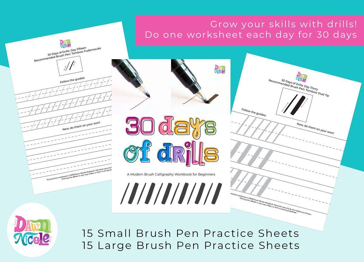 Brush Calligraphy 30 Days Of Drills
