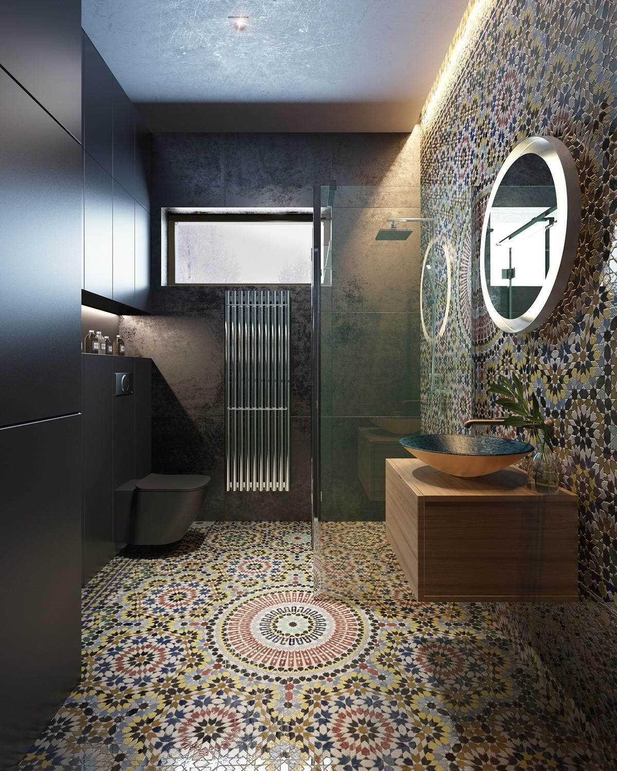Modern moroccan bathroom - Decorating Bathroom Backsplash Ideas Showing A Modern And Luxury Design Which Is Suitable To Apply