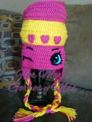 Crochet hat, shopkins, lippy lips. | Shopkins crochet | Pinterest