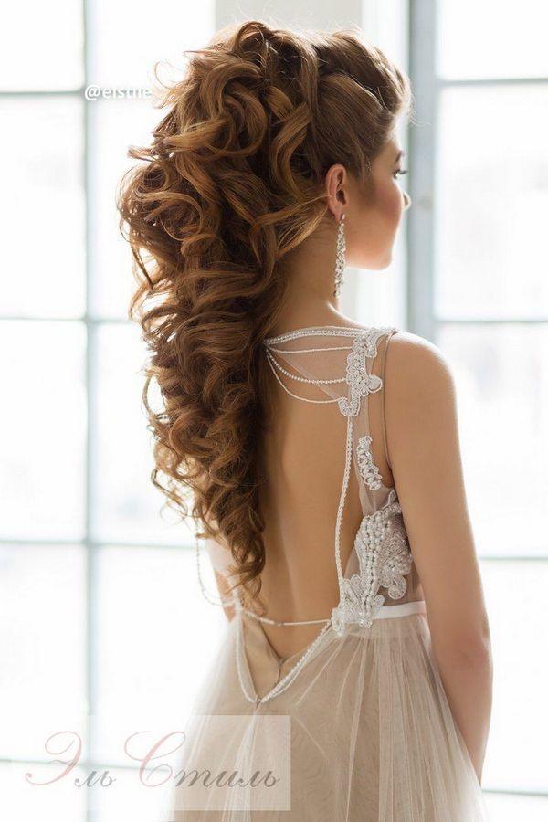 Elstile Long Wedding Hairstyle Ideas 19 / http://www.deerpearlflowers.com/26-perfect-wedding-hairstyles-with-glam/3/