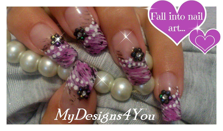 Fan Brush Technique Nail Art Design Tutorial Lavender Camo
