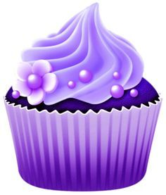 Birthday cake purple. Clip art of a