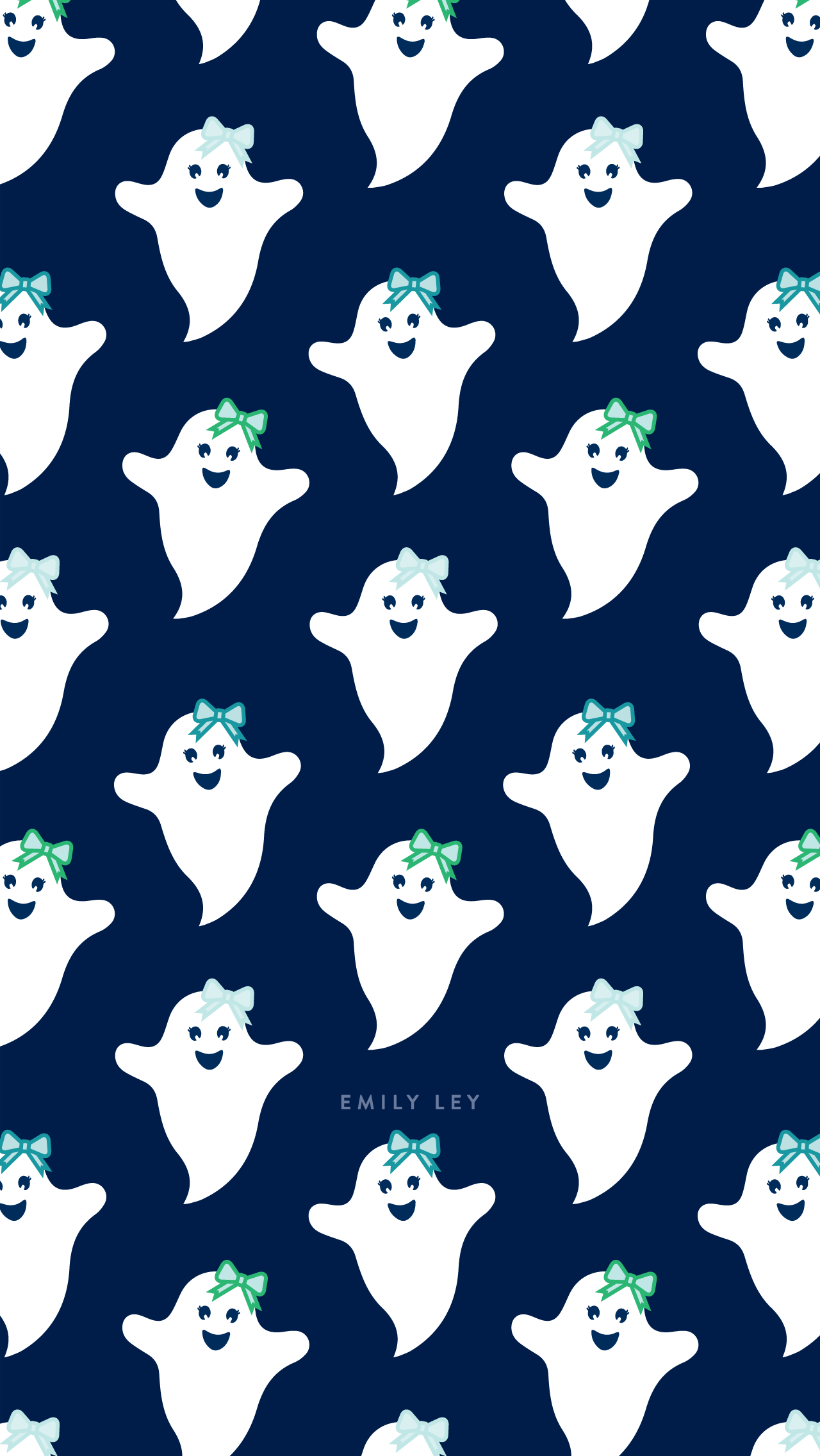 Free iPhone Wallpaper for Halloween. Ghosts Wallpaper
