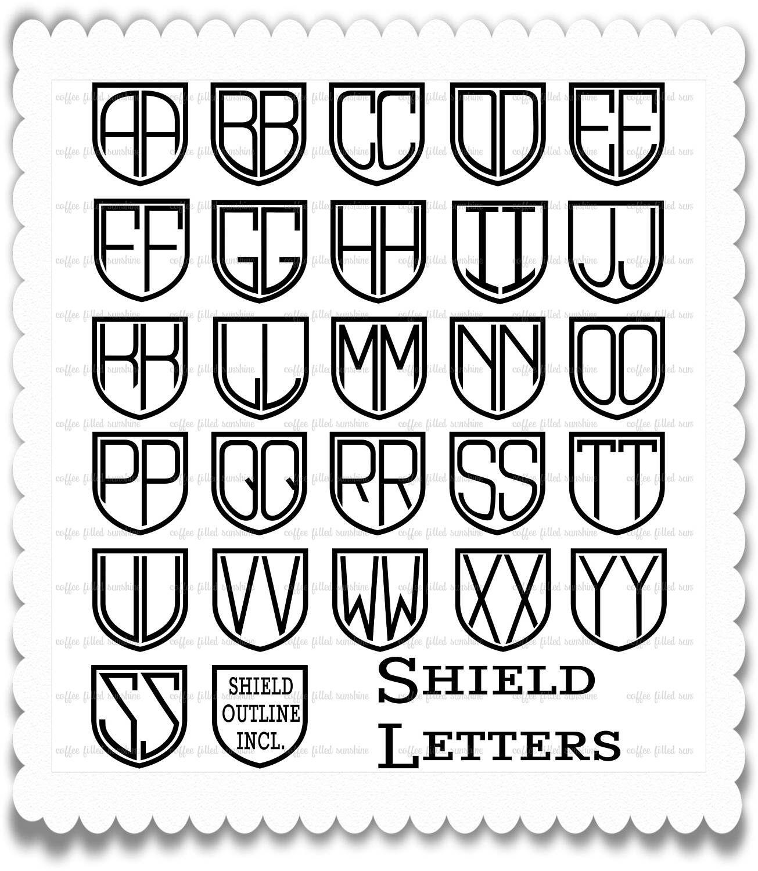 shield font  shield letters  shield alphabet  svg font