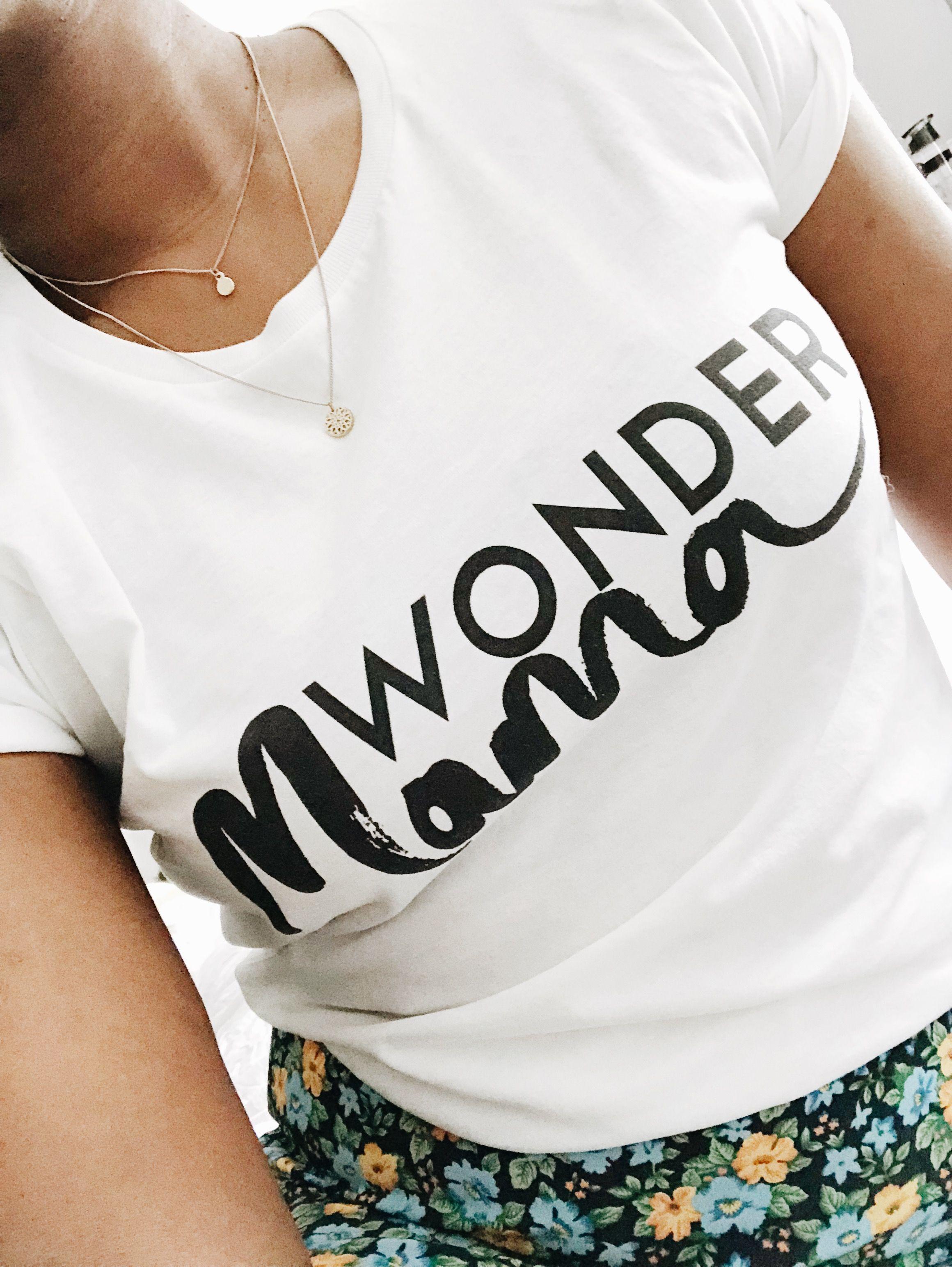 eec6a15531 Wonder Mama t shirt in organic Cotton £23.50 | Wearing Family Merch ...