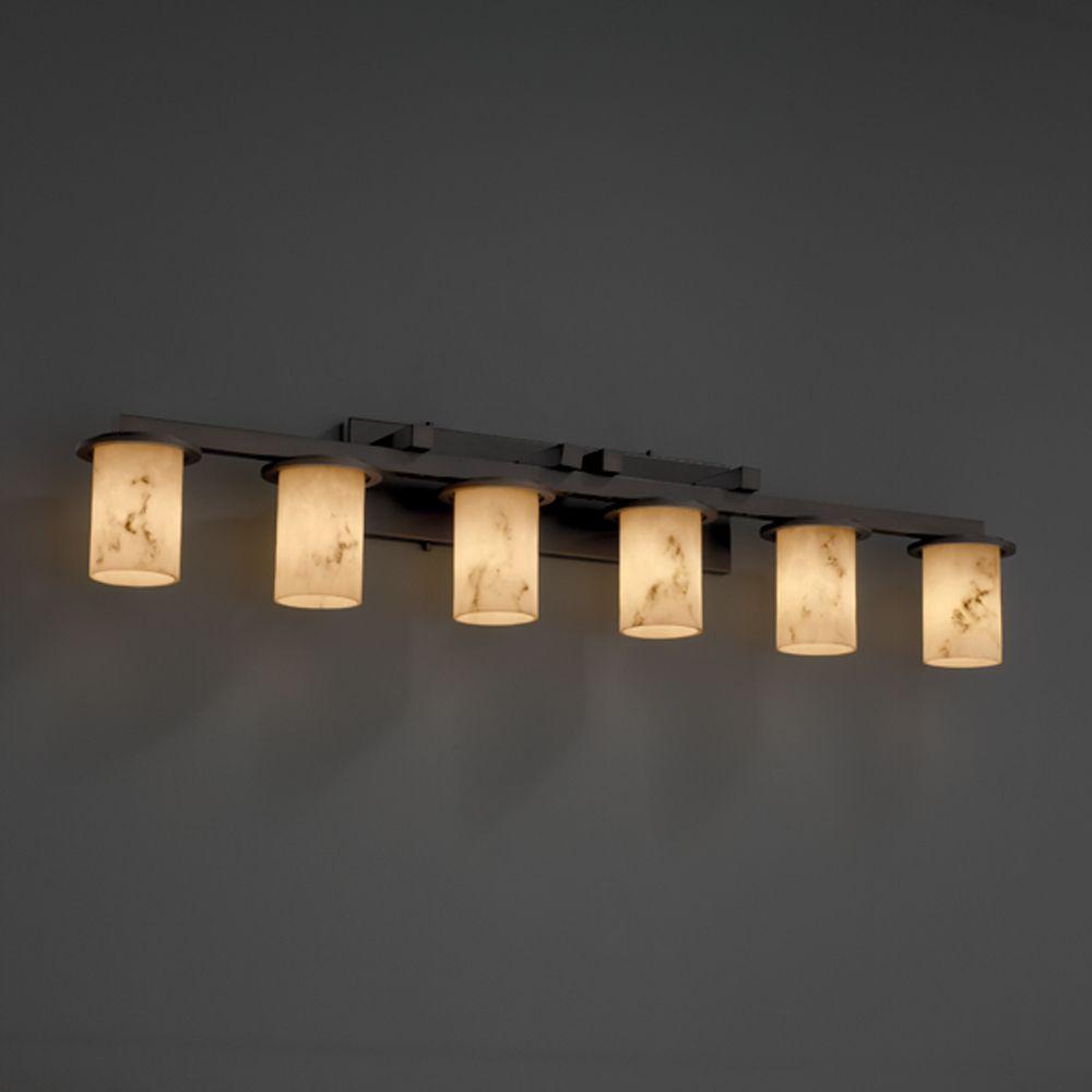 LumenAria Collection Dakota 6-Light Bath Bar shown in Dark Bronze by ...