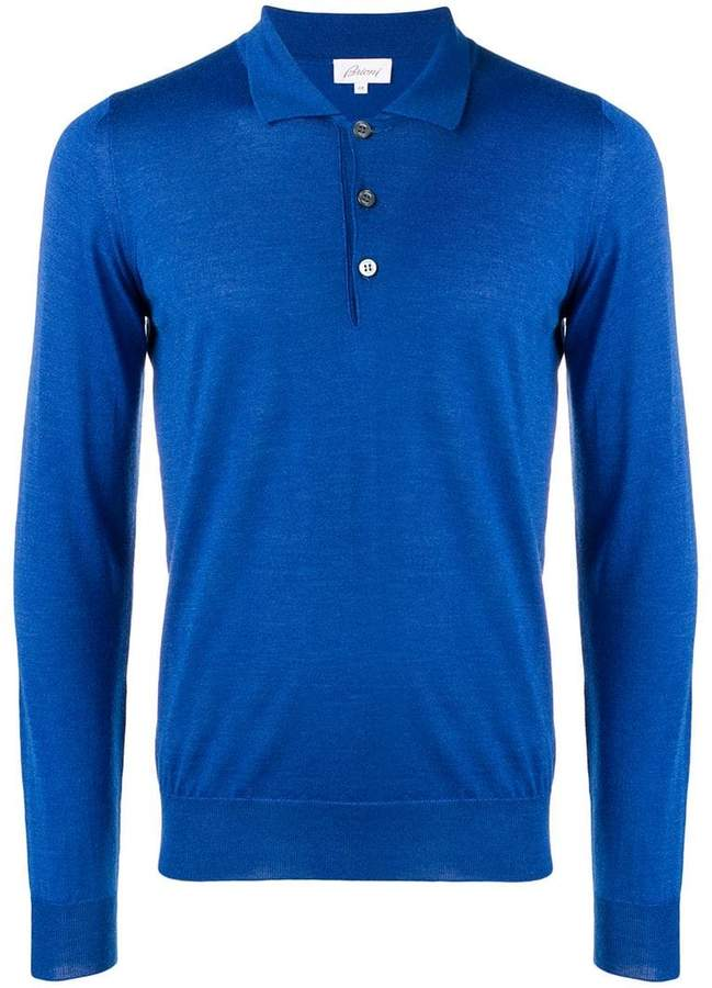 23ecc2976c8 Brioni Long Sleeve Polo Shirt in 2019 | Great Clothes for Men | Long ...
