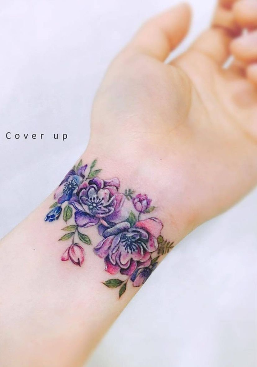 I Would Do Maybe Two Flowers But This Is So Pretty Arm Tattoo