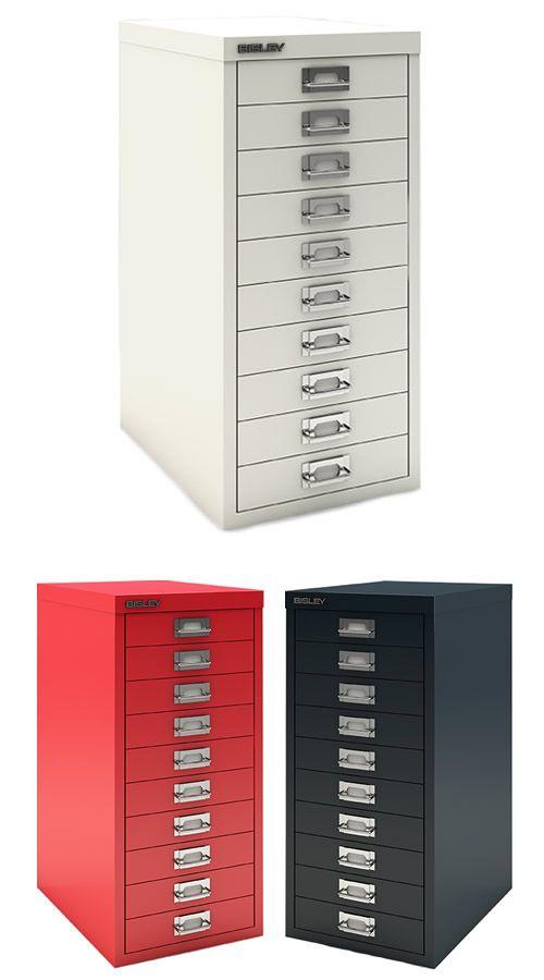 10 Drawer Mini Filing Cabinet White Bisley Office Storage Furniture Office Storage Furniture Filing Cabinet Metal Card Holder