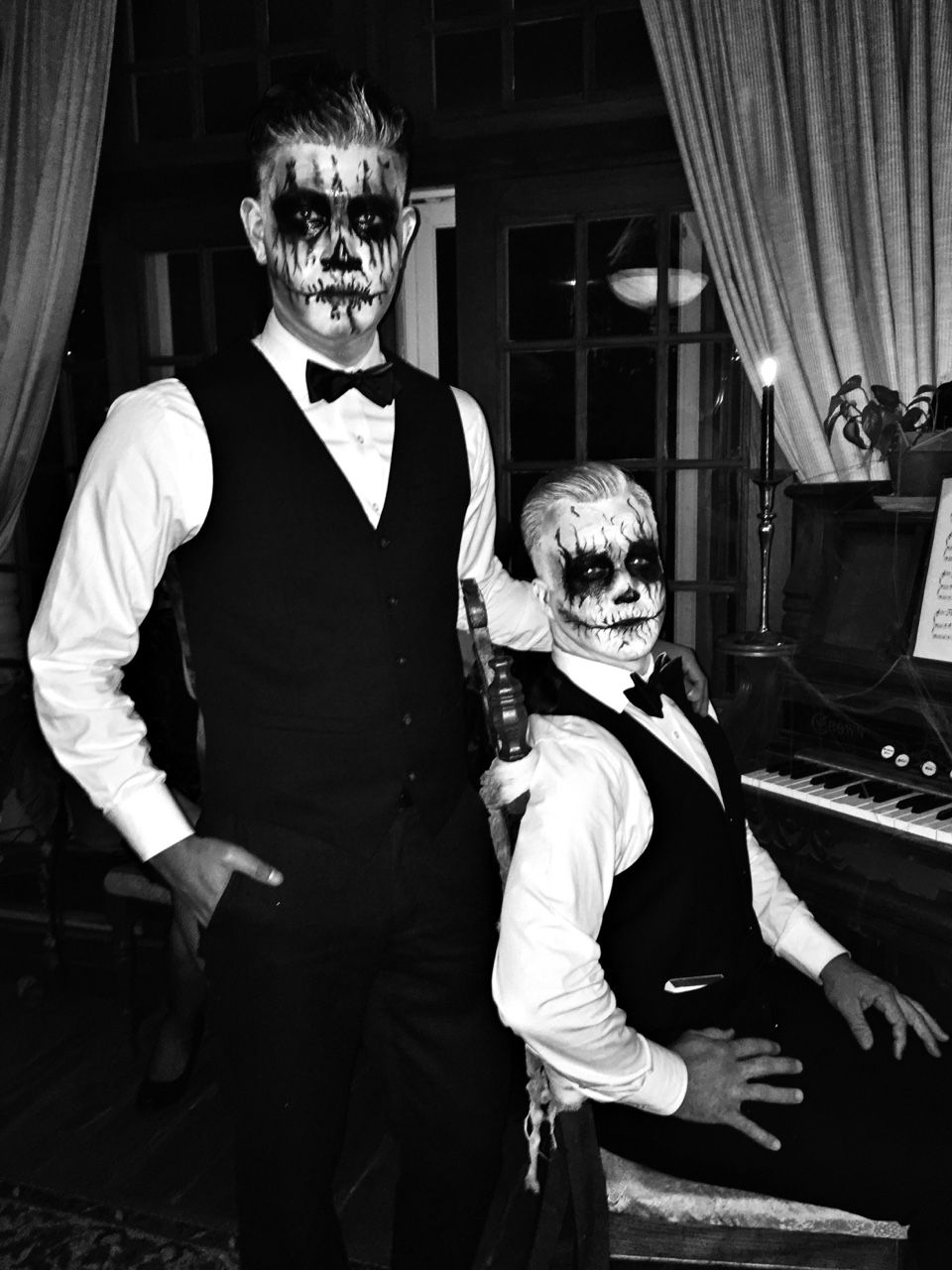 af51667906e7 black tie skeletons, bow tie bones // dapper + scary men's Halloween costume,  menswear style + fashion