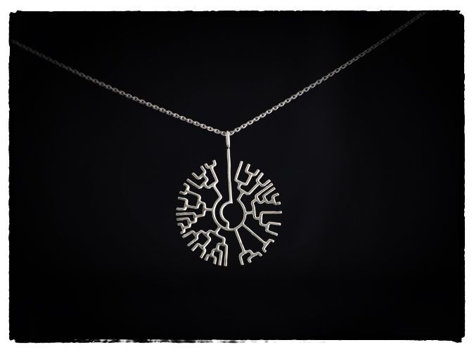 Phylogenetic tree pendant science jewelry phylogenetic tree tree phylogenetic tree pendant 3d printed necklaces pendants phylogenetic tree pendant in premium silver aloadofball Gallery