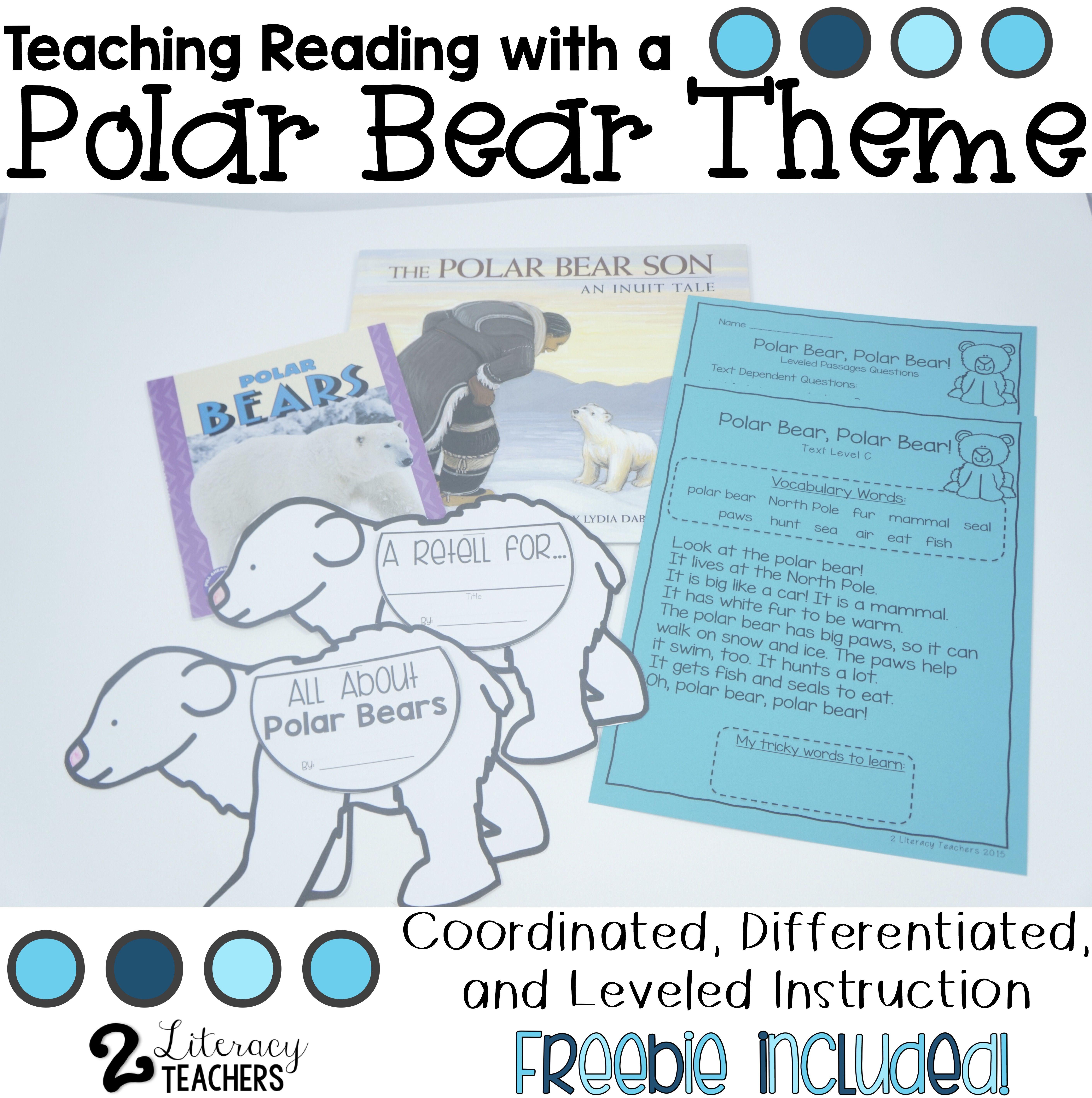 Teaching Reading With A Polar Bear Theme
