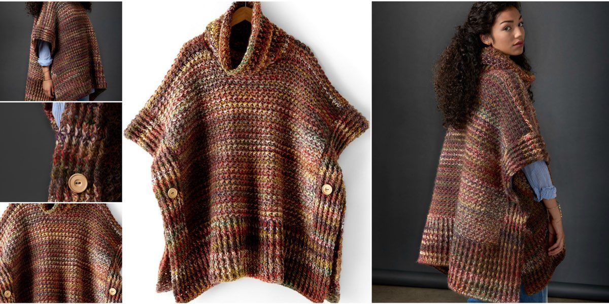 HOW TO CROCHET A PONCHO CLOAK WITH RIB TEXTURE? | Free Crochet ...