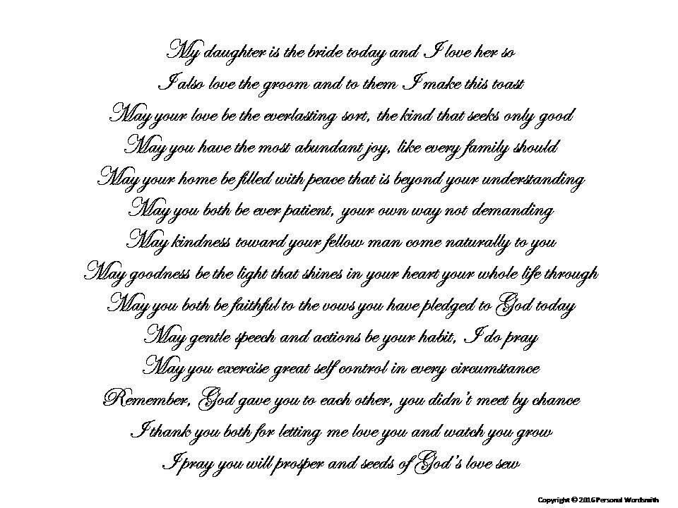 Toast To Bride From Mother Printable Download Mother S Reception Toast Blessing Wedding Blessing From Mother Of Brid Bride Speech Mother Poems Wedding Speech