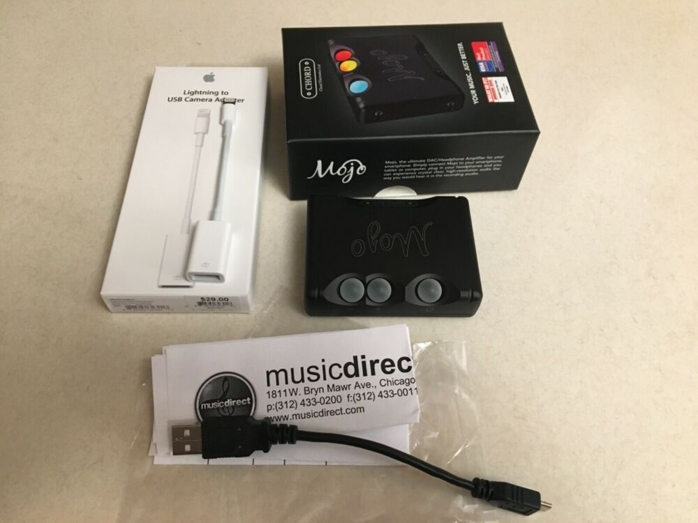Chord Mojo Headphone Amp Dac Lightly Used Plus Apple Usb To Lightning Adapter 60 Bids Headphone Amp Usb Headphone