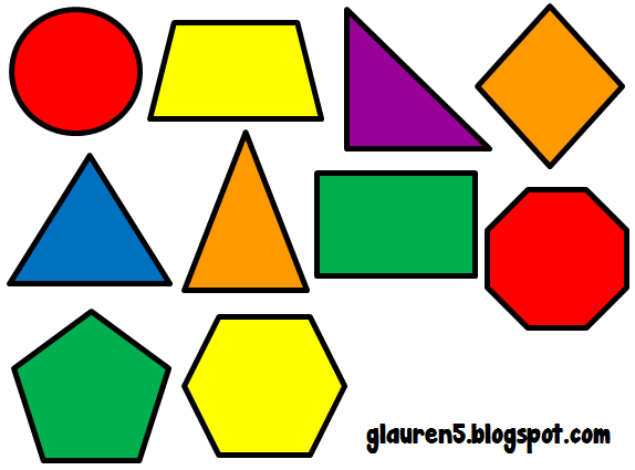 Ginger Snaps Clip Art Primary Geometric Shapes Set Geometric