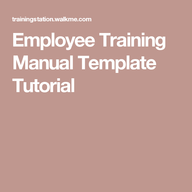 Employee Training Manual Template Tutorial  Gaia Bodyworks