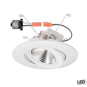 commercial electric 6 in recessed white gimbal led trim cer6742wh at the home depot mobile track lighting designers fountain harbor breeze sail stream fan