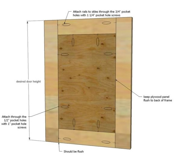 How To Build Simple Shaker Cabinet Doors With Kreg Jig And Pocket Hole Screws By Dorthy Diy Cabinet Doors Door Diy Projects Easy Frame