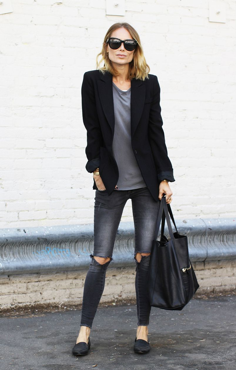 How To Style Your Blazer And Jeans Tips For Girls Prep
