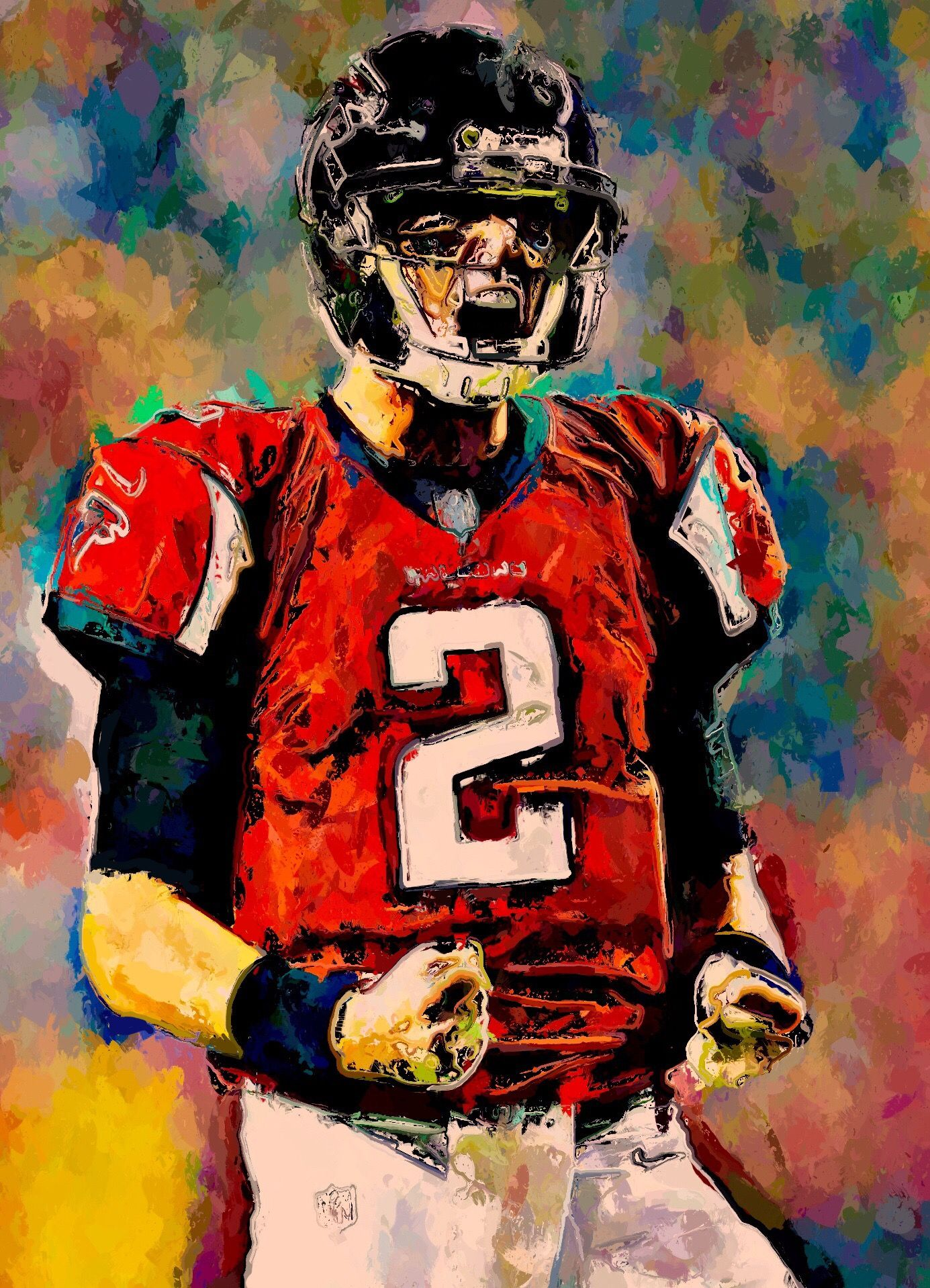Matt Ryan 2018 Matty Ice Keeps The Hunt Alive Mattyice Mattryan Falcons Atlantafalcons Nfc Playoffs Nfl Sports Art Football Helmets Football