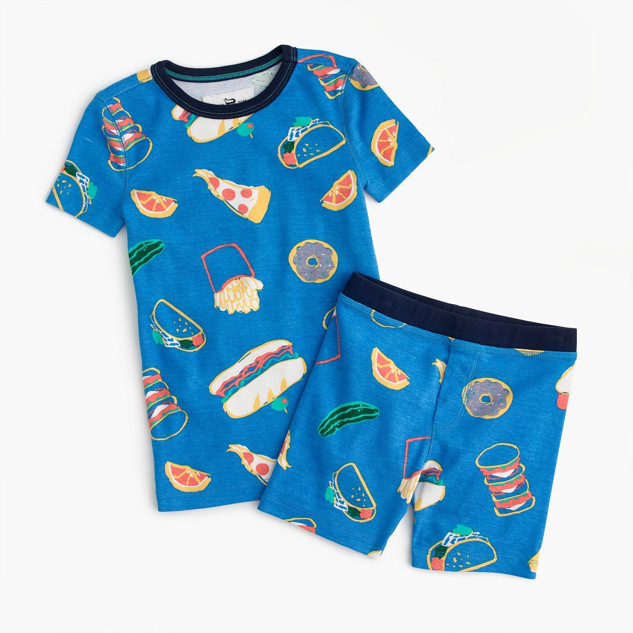 680b9ac80b1 crewcuts Girls Short Pajama Set In Pizza Party (Size 14 Kid ...