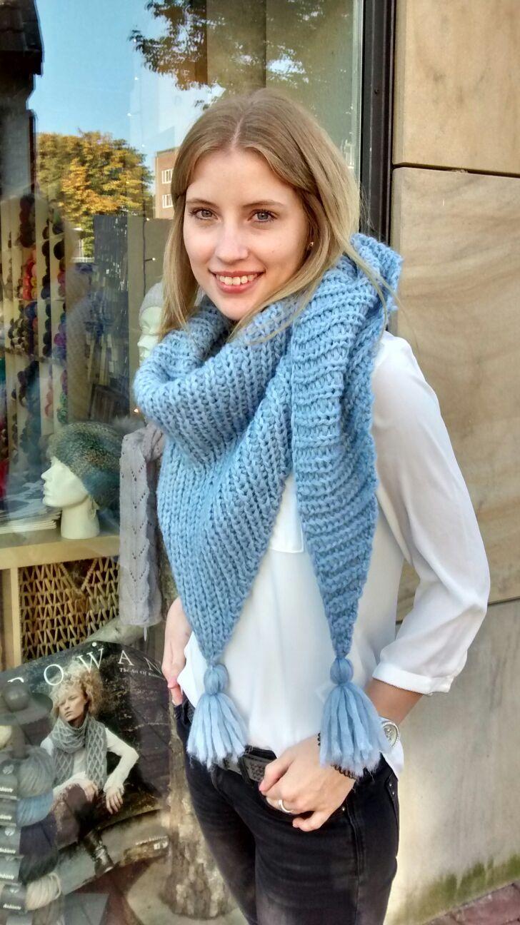 Großes Dreieckstuch Halbpatent Crochet Things Pinterest