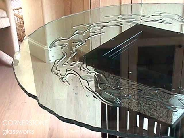 Carved Glass Etched Glass Art Glass By Cornerstone Glassworks Custom Glass Custom Glass Table Tops Glass Top Table
