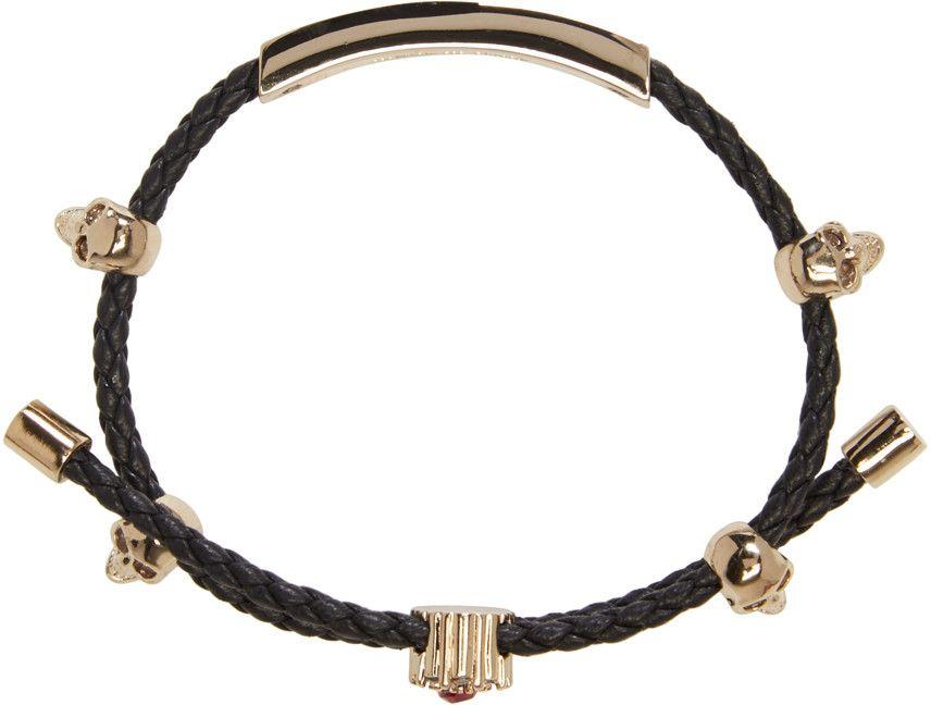 Alexander McQueen - Black Friendship Skull Bracelet