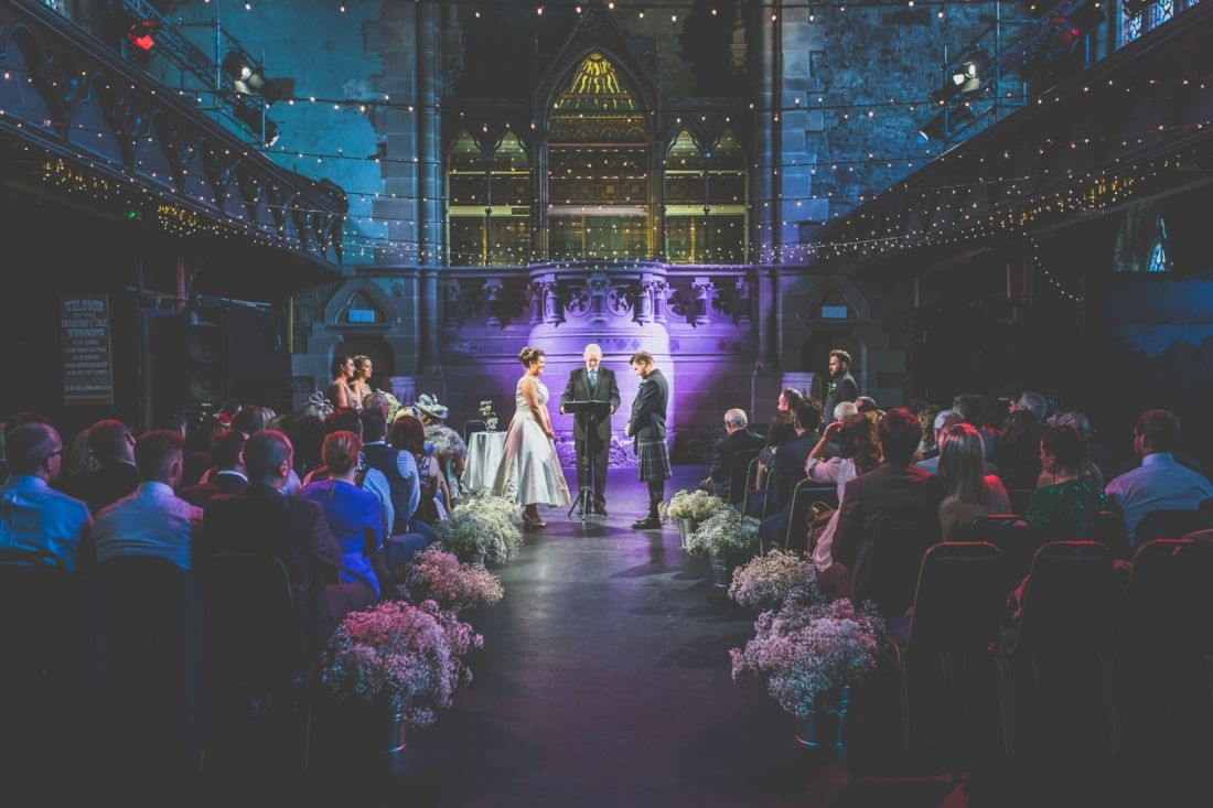 Cottiers Is One Of Glasgows Coolest Wedding Venues Look At Those Lights Lucy And