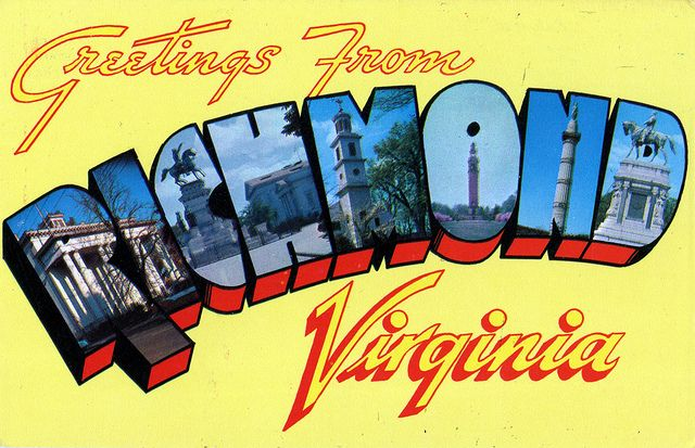 Greetings from Richmond, Virginia - Large Letter Postcard by Shook - letter greetings
