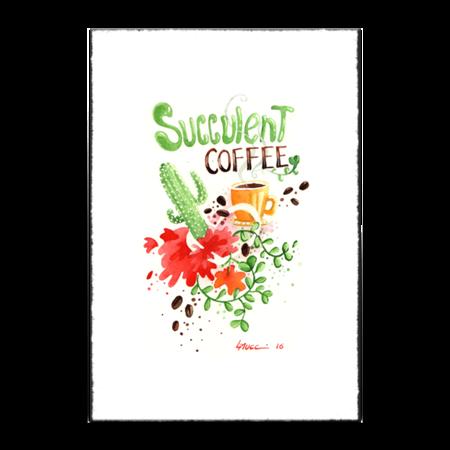 Poster Succulent Coffee de @luanamucci | Colab55