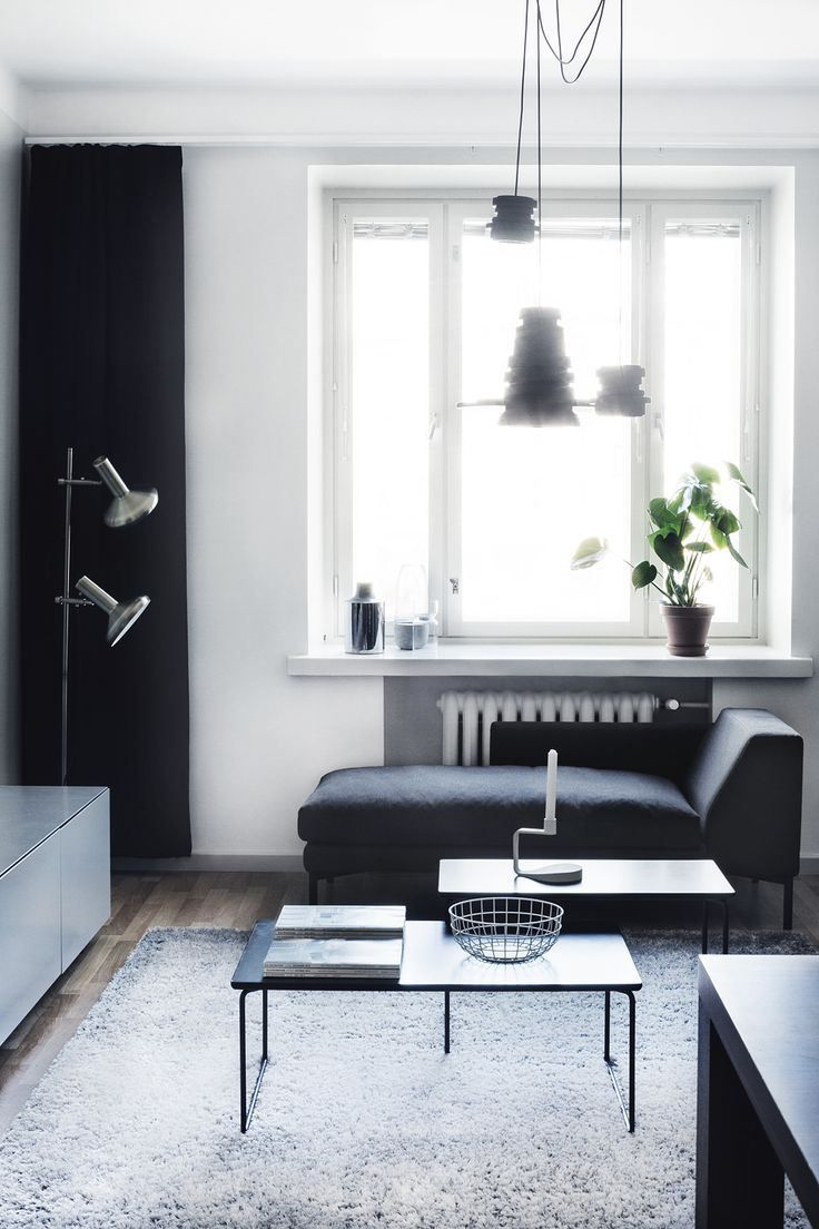 Finnish home with dark furniture - via cocolapinedesign.com | For ...
