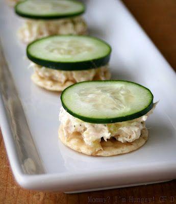 Thunfisch Salat Gurken Crackers