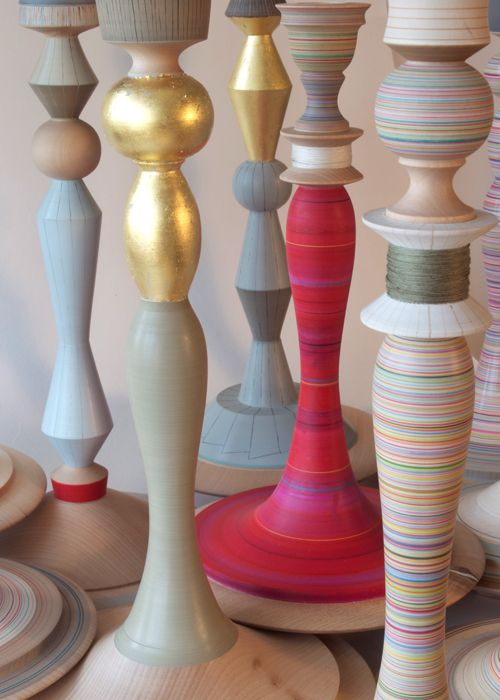 Hand Turned And Painted Lamp Bases By Sarah Lock Wood Lamp Base