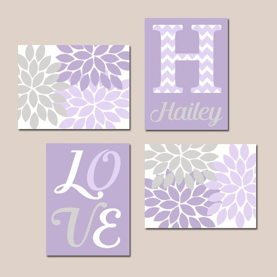 LILAC LAVENDER Nursery Baby GIRL Wall Art Canvas or by ...