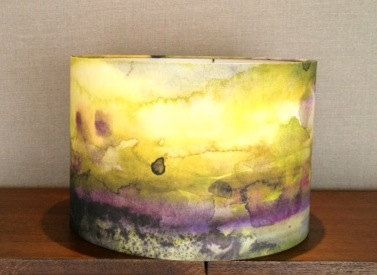watercolor fabric lampshade - Google Search