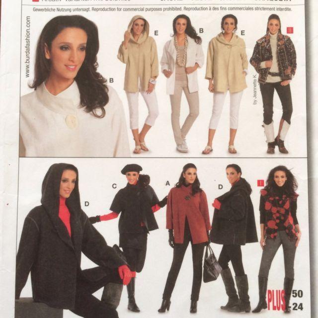 7700 UNCUT BURDA Loose Fit JACKET TOPS Dress Sewing Pattern 12 14 16 ...