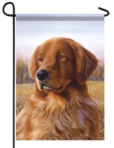 Golden Retriever Garden Flag Dogs Golden Retriever Dogs Golden