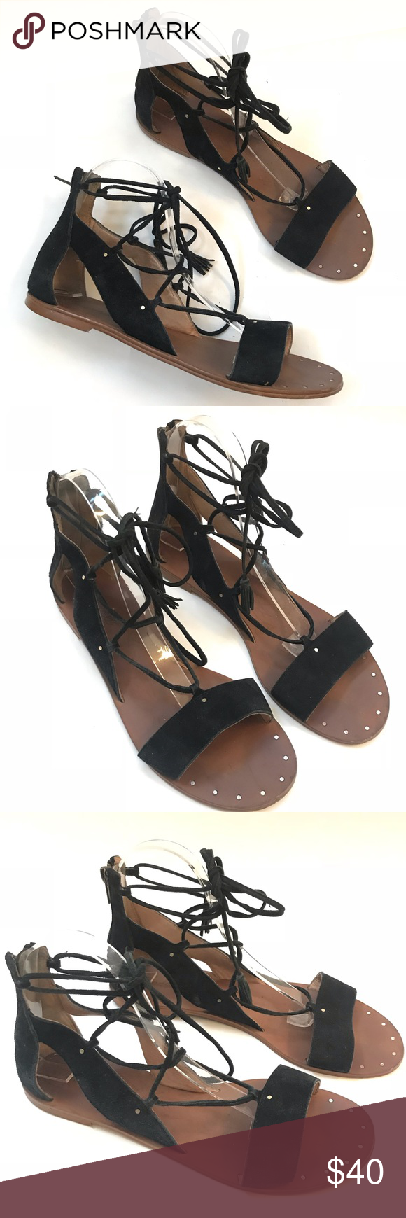 efca6815a08d Madewell Bridget Gladiator Leathe lace up Sandal 8 Smooth suede Madewell  gladiator sandals accented with petite studs. Lace-up closure and exposed  back zip.