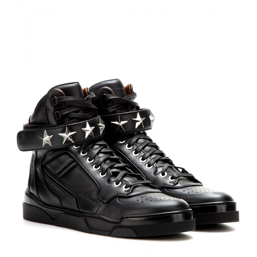 Givenchy Tyson Stars leather high top sneakers Givenchy