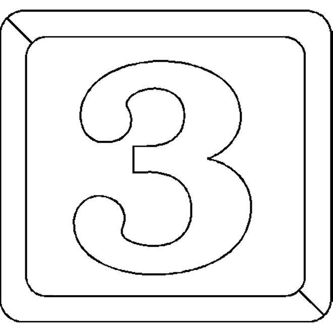 cijfer 3 kleurplaat zoeken kleurplaten
