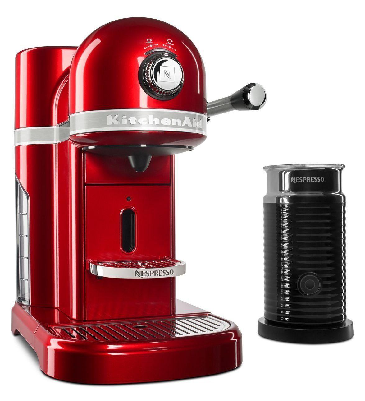 KitchenAid Nespresso Candy Apple Red Manual Espresso Maker