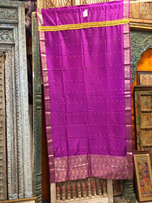Nice Amazon.com   Window Treatment 1 India Curtains Fuschiapink Silk Sari Drapes  Curtain 84 Inch