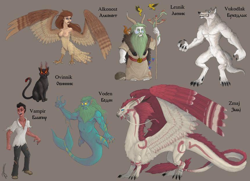 вымышленные существа список с картинками и описанием создании